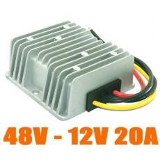 Convertisseur DC DC abaisseur/ réducteur 48 V à 12 V 20A